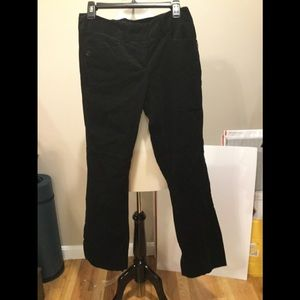 The Limited Drew Fit black velvet pants